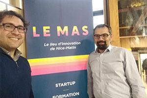 Marco Casa et Giovanni Gugg, fondateurs de Radio Nizza